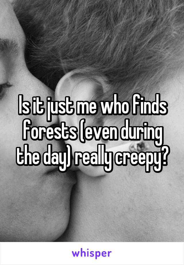 Is it just me who finds forests (even during the day) really creepy?