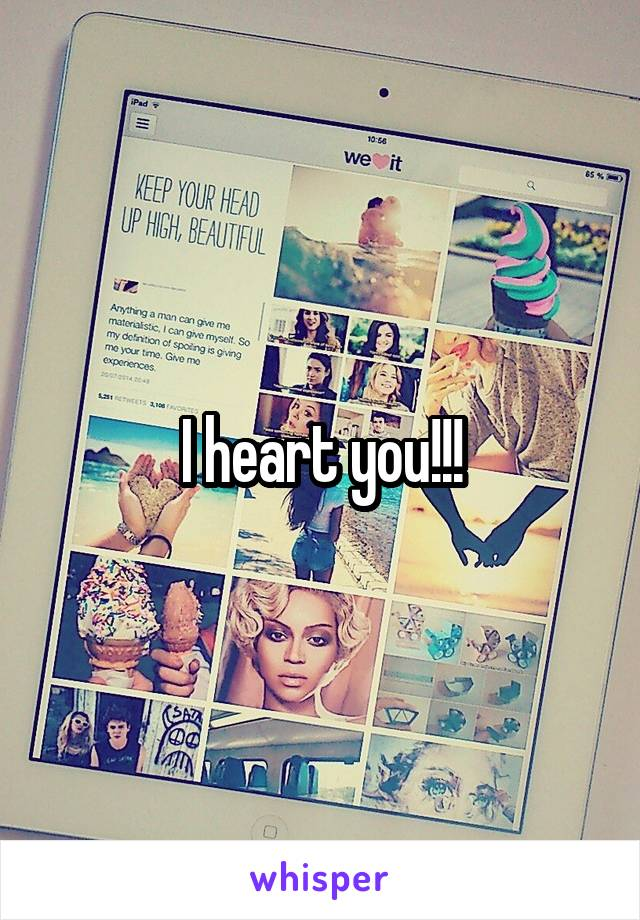 I heart you!!!