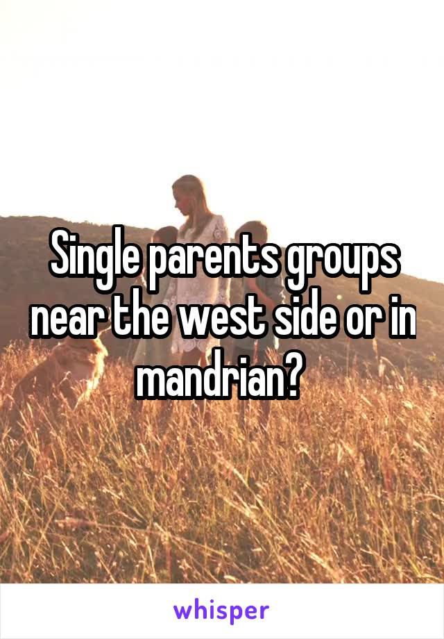 Single parents groups near the west side or in mandrian?