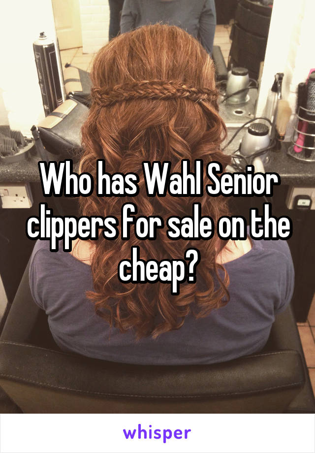 Who has Wahl Senior clippers for sale on the cheap?