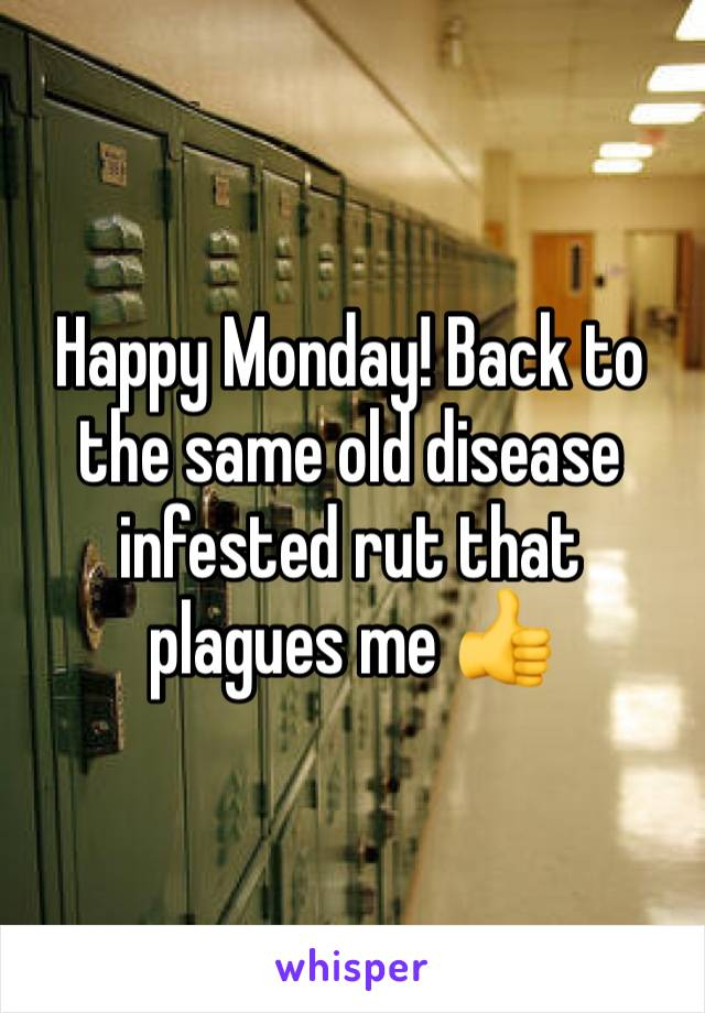 Happy Monday! Back to the same old disease infested rut that plagues me 👍