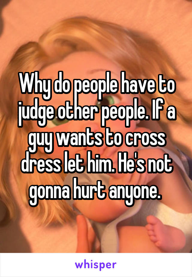 why do we judge others