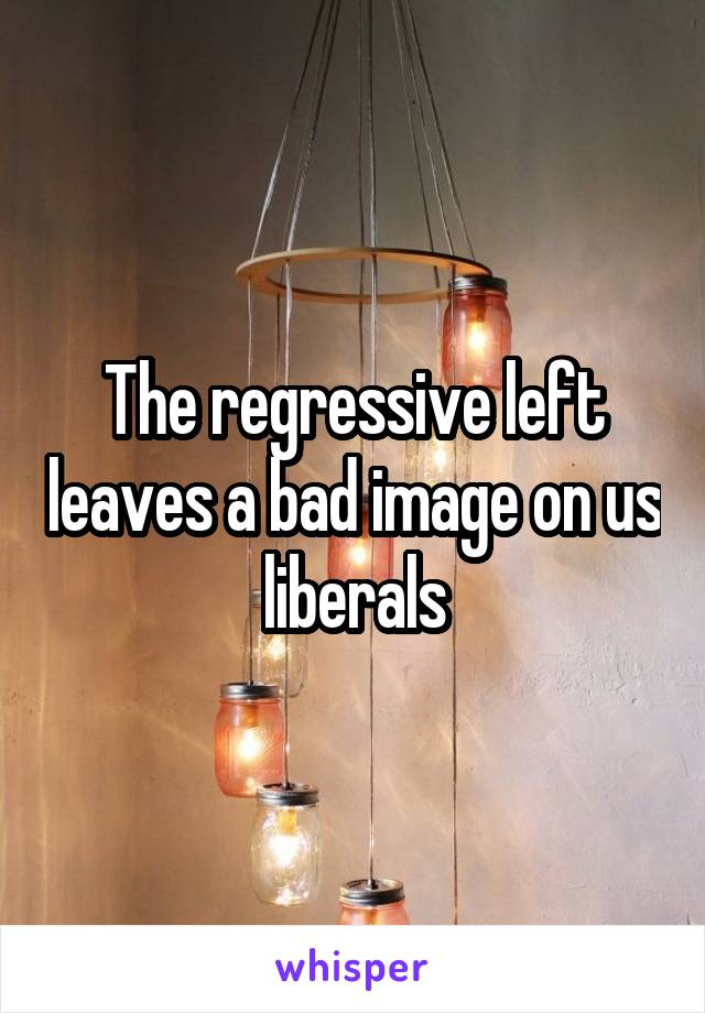 The regressive left leaves a bad image on us liberals