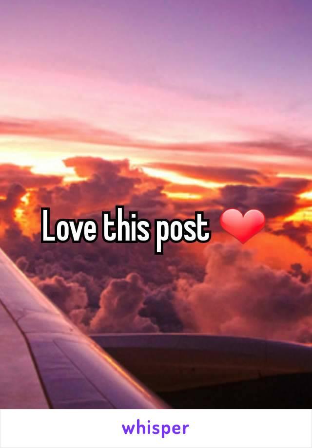 Love this post ❤️