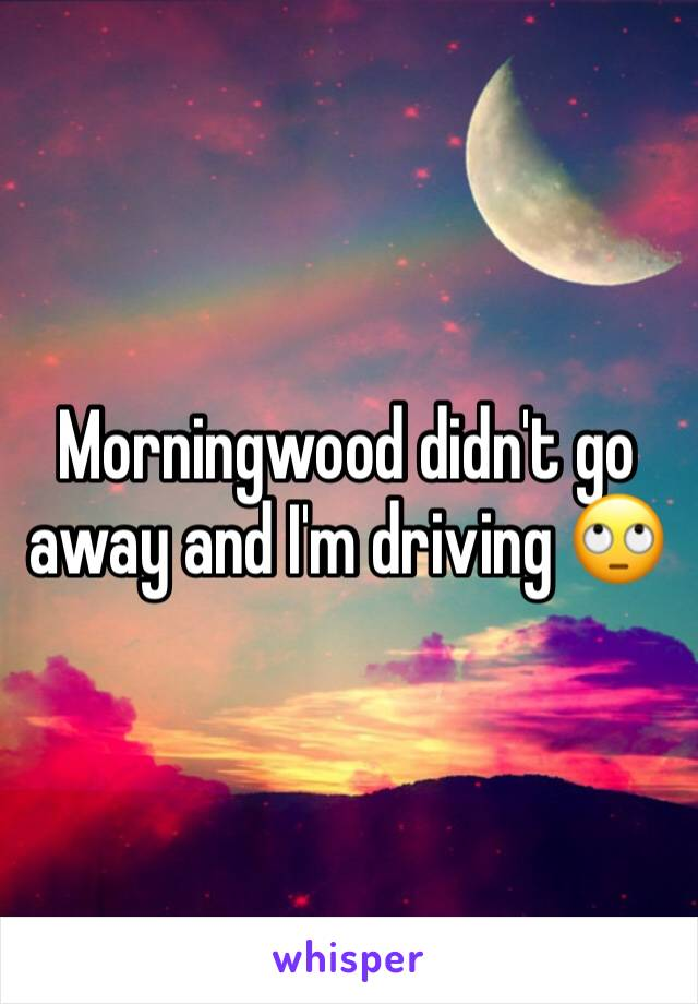 Morningwood didn't go away and I'm driving 🙄
