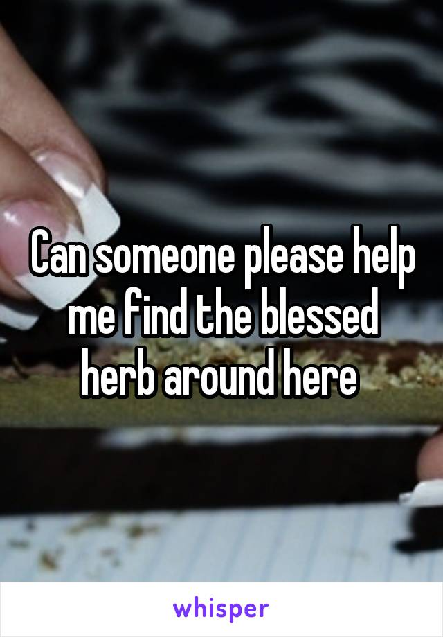Can someone please help me find the blessed herb around here