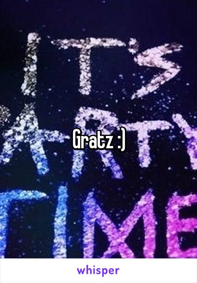 Gratz :)