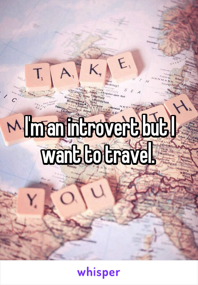 I'm an introvert but I want to travel.