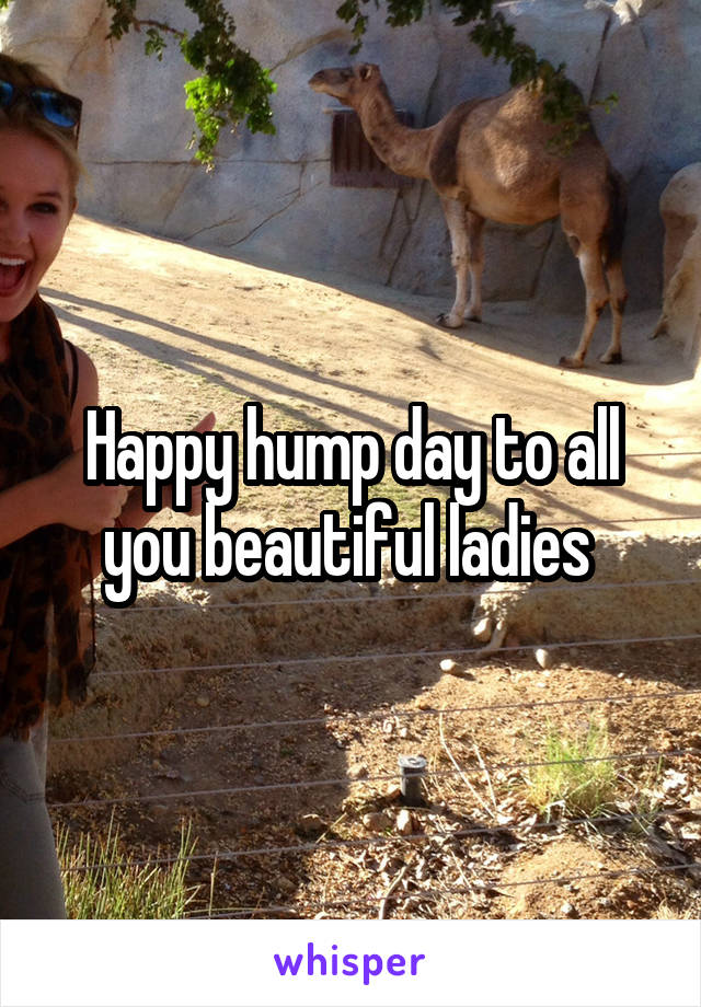 Happy hump day to all you beautiful ladies
