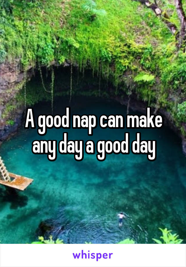 A good nap can make any day a good day