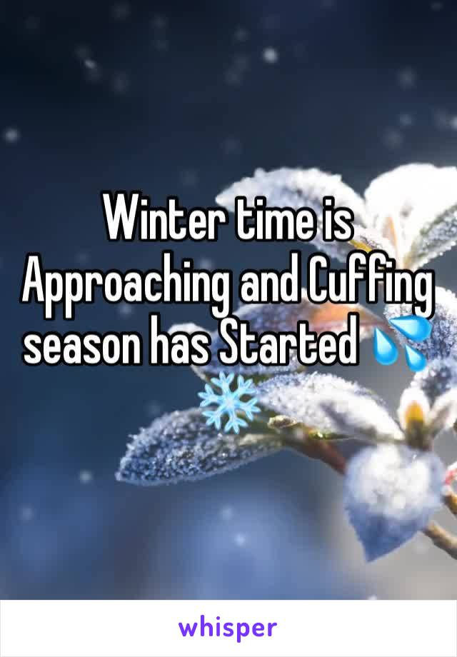 Winter time is Approaching and Cuffing season has Started 💦❄️