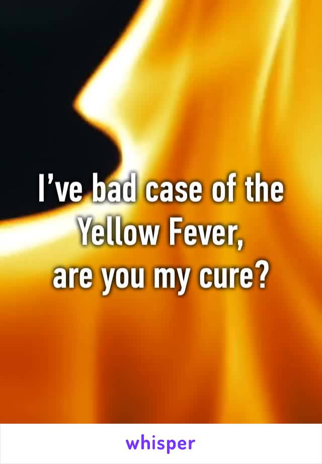 I've bad case of the Yellow Fever, are you my cure?
