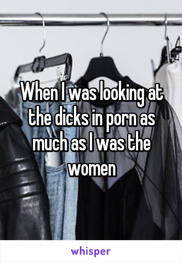 When I was looking at the dicks in porn as much as I was the women