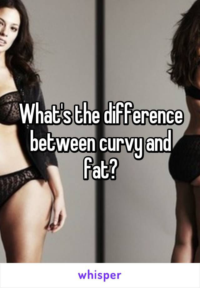 What's the difference between curvy and fat?