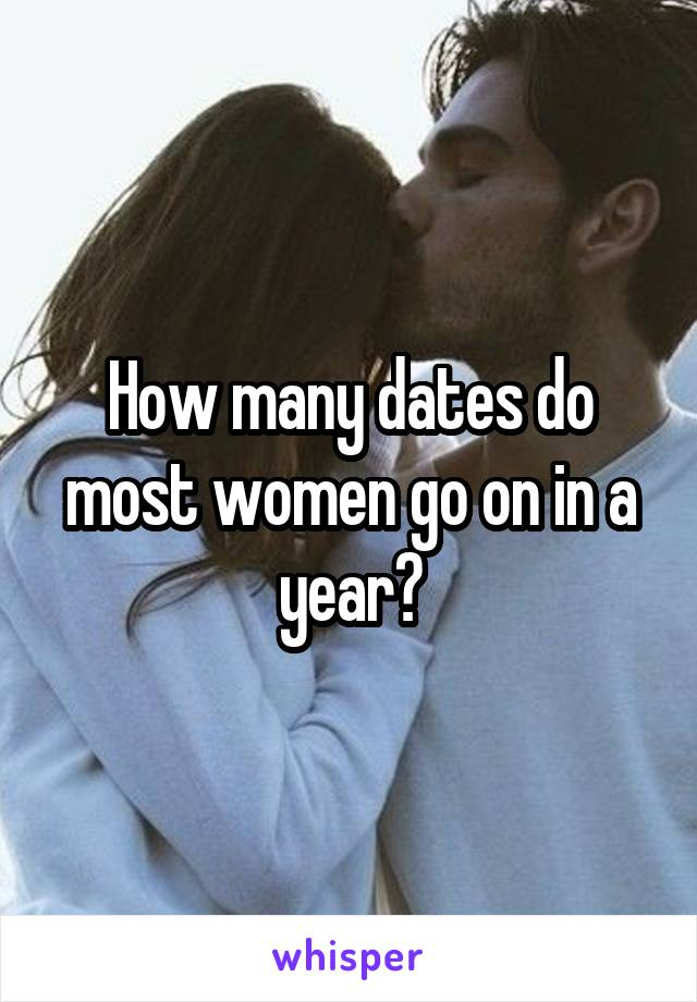 How many dates do most women go on in a year?