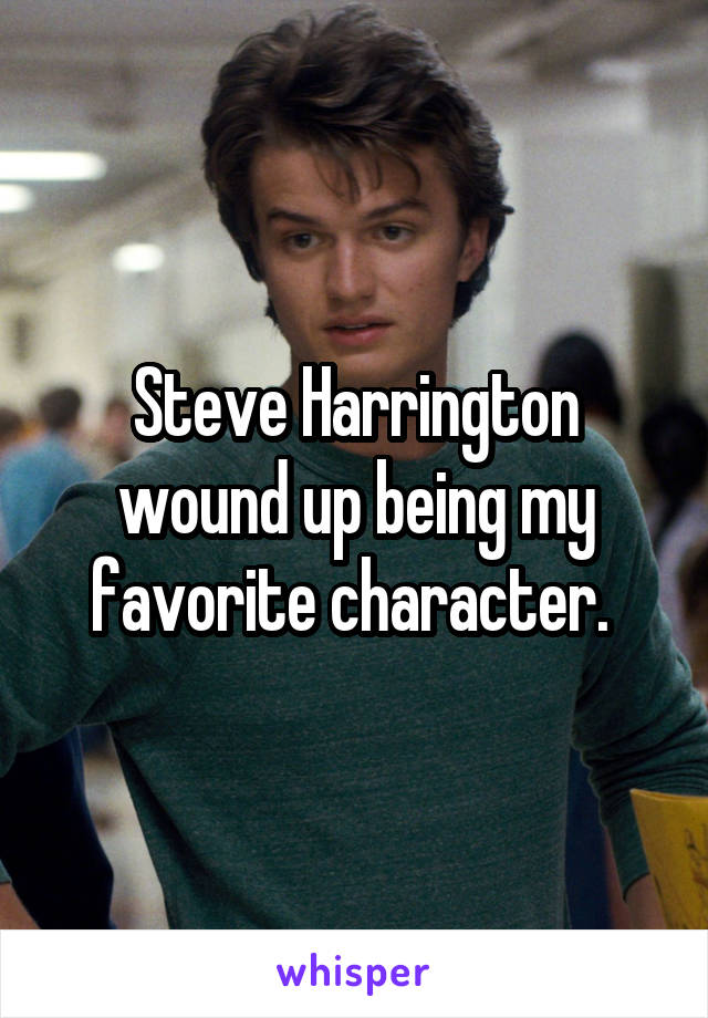 Steve Harrington wound up being my favorite character.