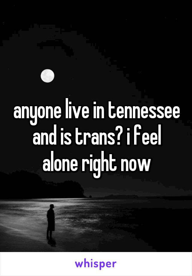 anyone live in tennessee and is trans? i feel alone right now