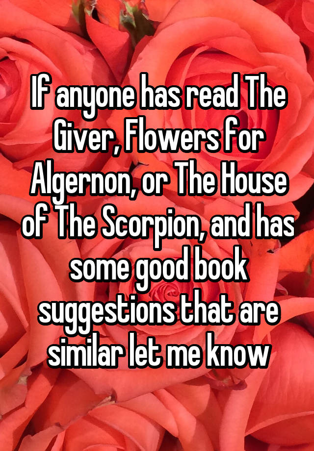 similarities between flowers for algernon and