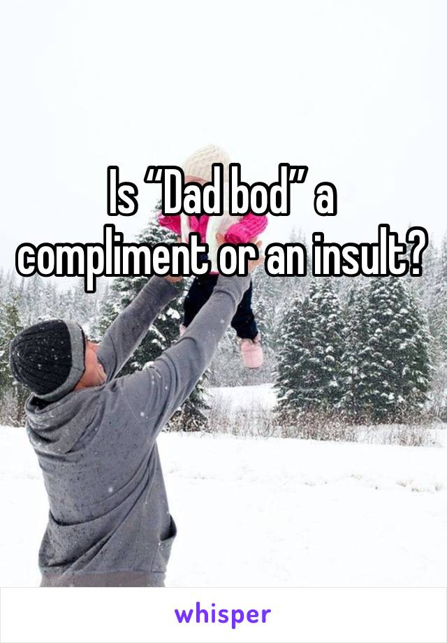 """Is """"Dad bod"""" a compliment or an insult?"""