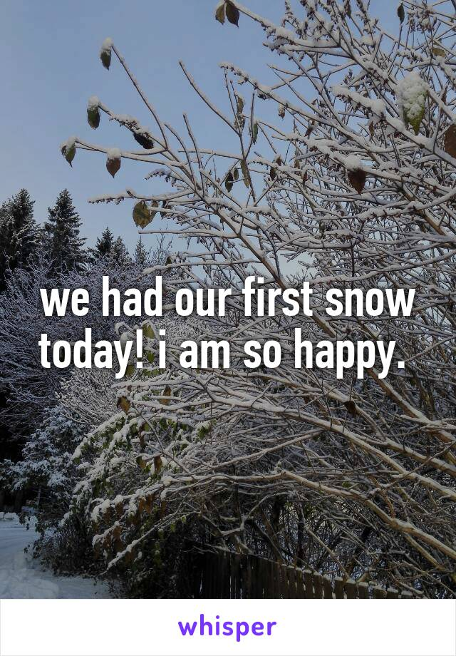 we had our first snow today! i am so happy.