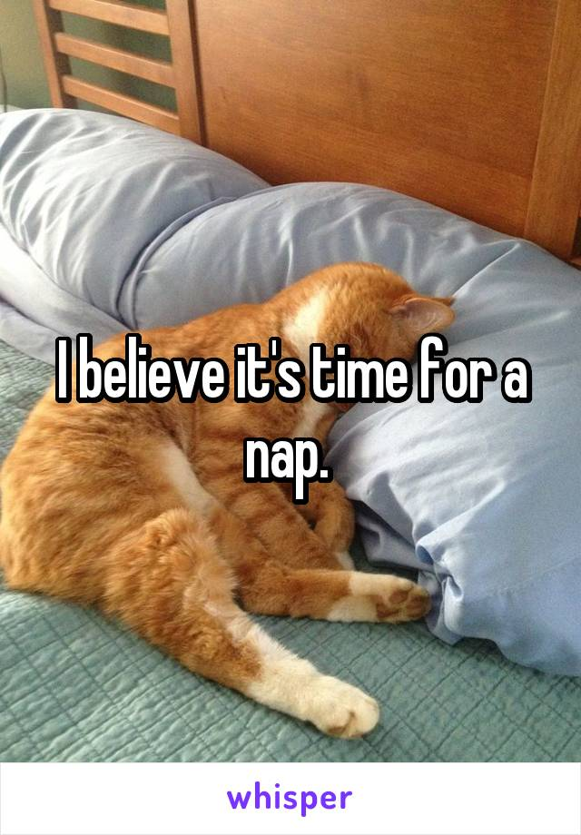I believe it's time for a nap.