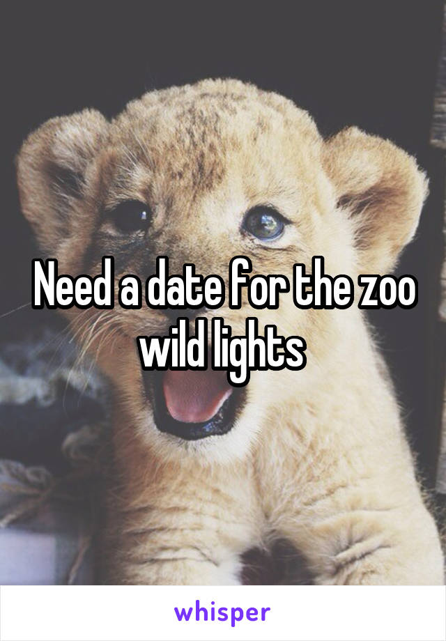 Need a date for the zoo wild lights