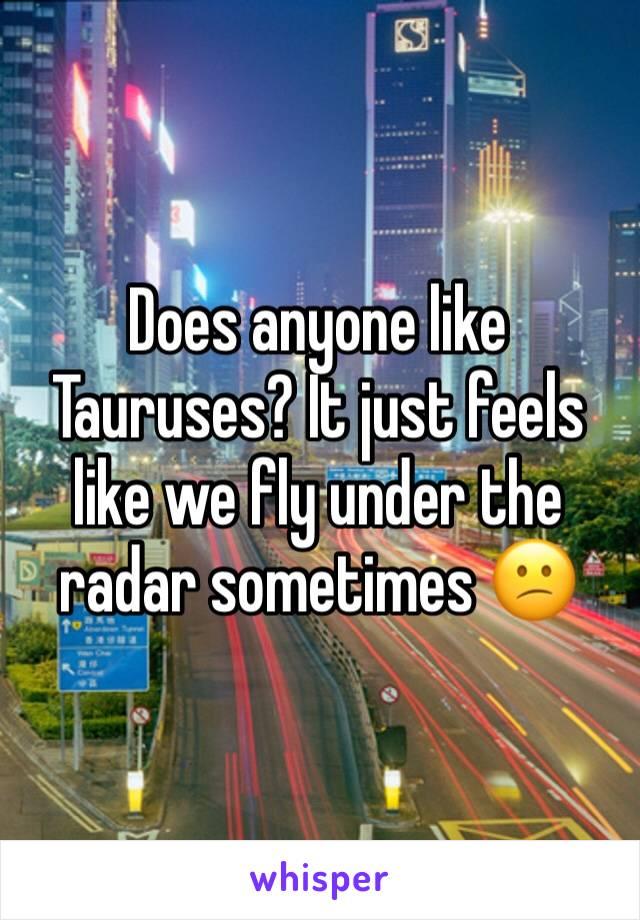 Does anyone like Tauruses? It just feels like we fly under the radar sometimes 😕