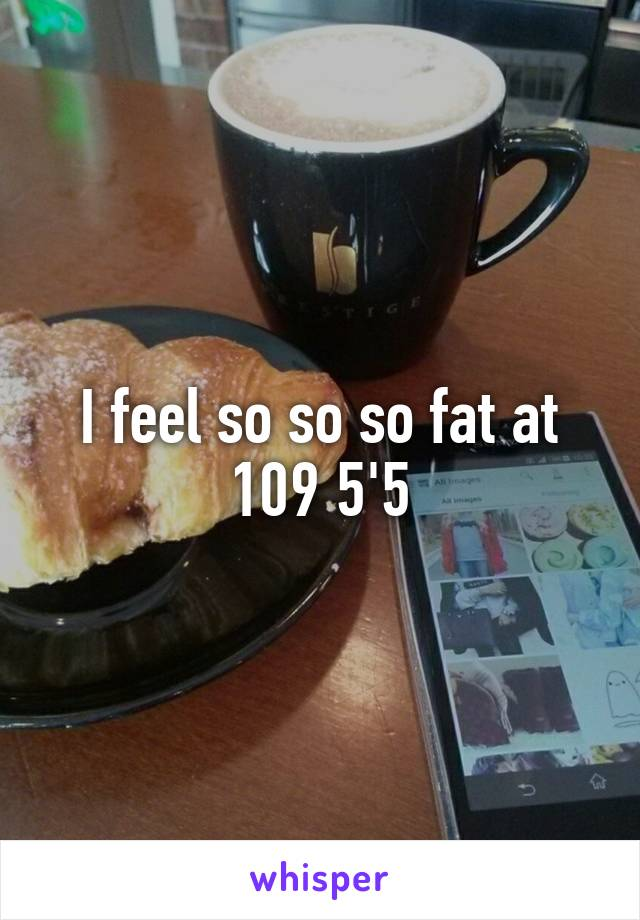 I feel so so so fat at 109 5'5