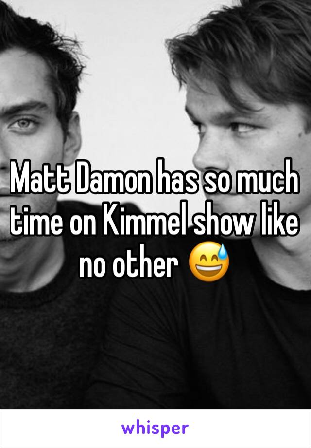 Matt Damon has so much time on Kimmel show like no other 😅
