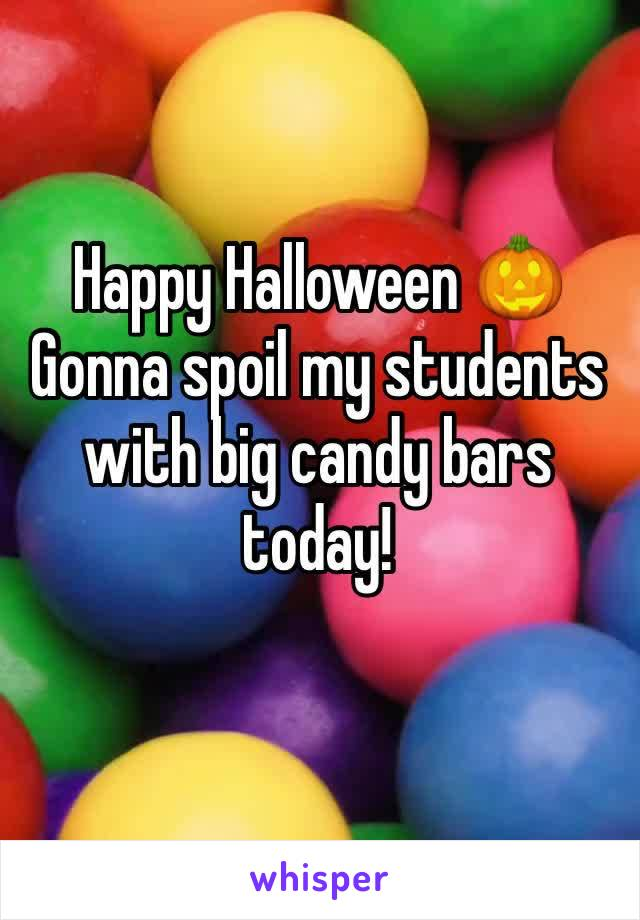 Happy Halloween 🎃  Gonna spoil my students with big candy bars today!