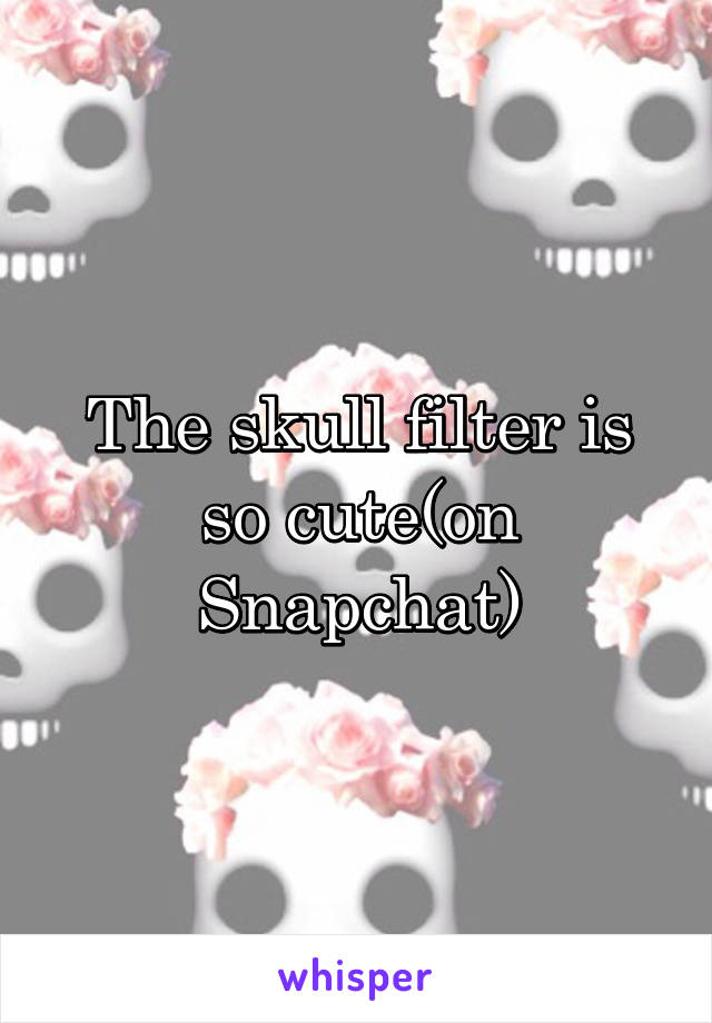 The skull filter is so cute(on Snapchat)