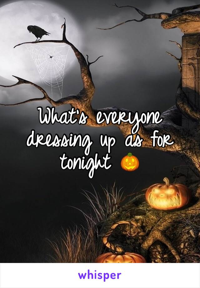 What's everyone dressing up as for tonight 🎃