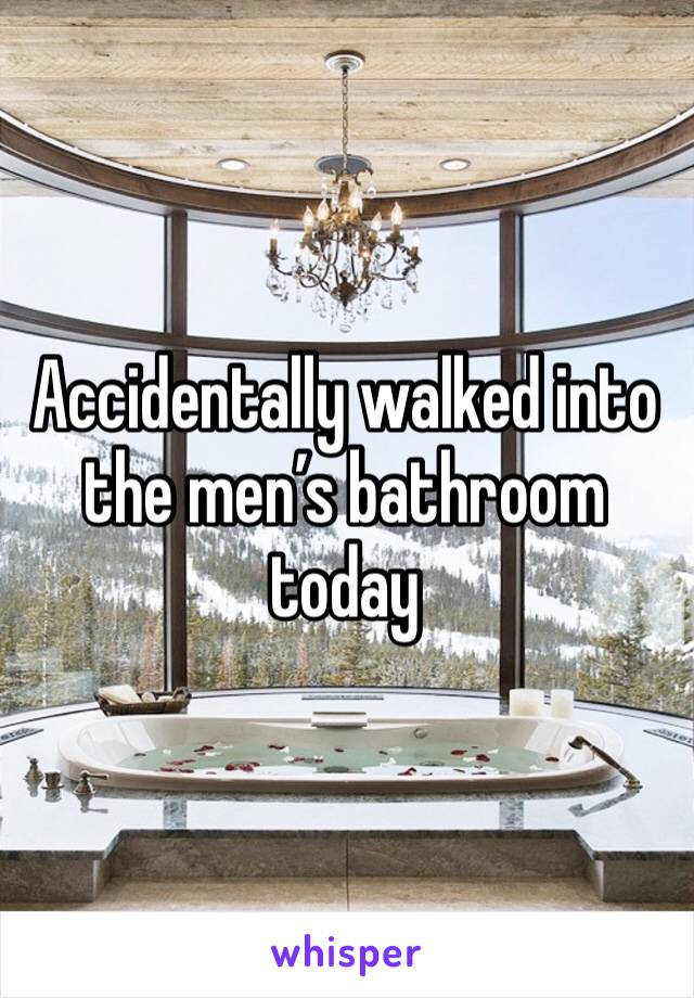 Accidentally walked into the men's bathroom today