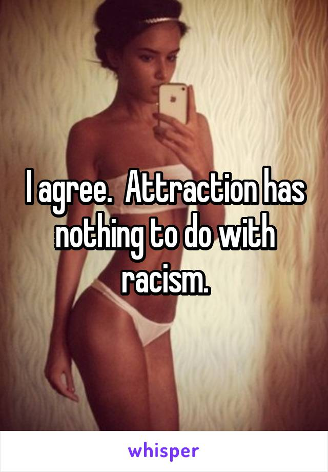 I agree.  Attraction has nothing to do with racism.
