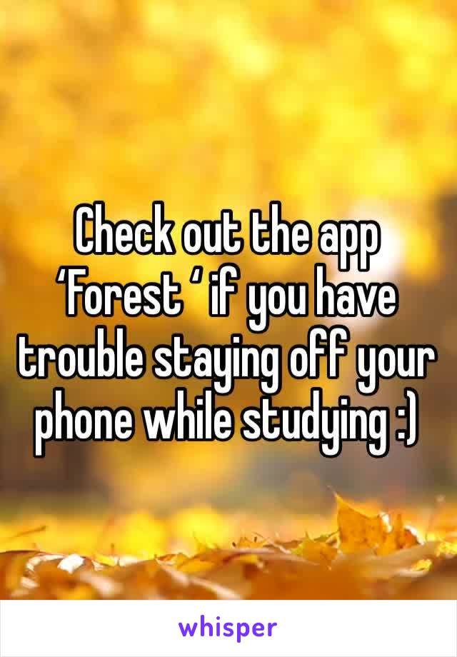 Check out the app 'Forest ' if you have trouble staying off your phone while studying :)