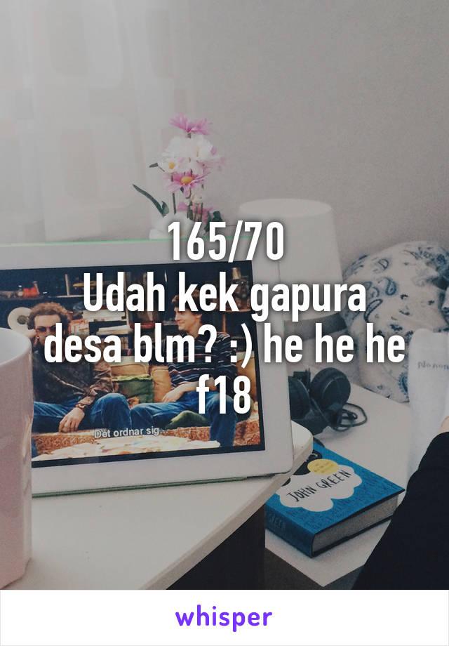 165/70 Udah kek gapura desa blm? :) he he he f18