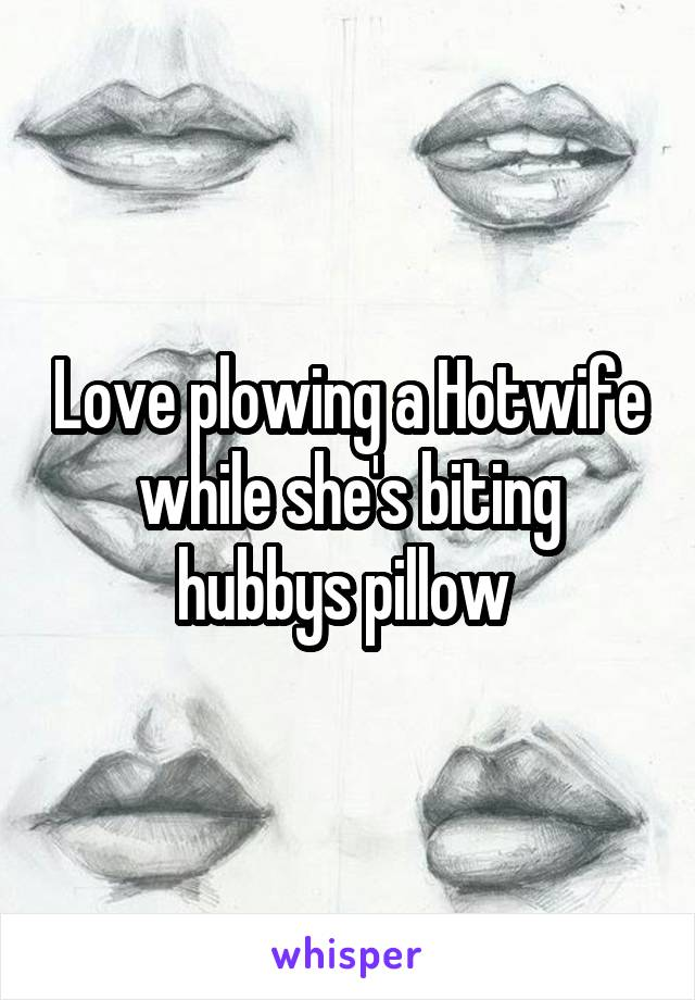 Love plowing a Hotwife while she's biting hubbys pillow