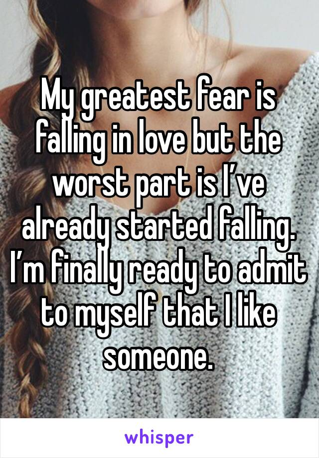 what is the fear of falling in love