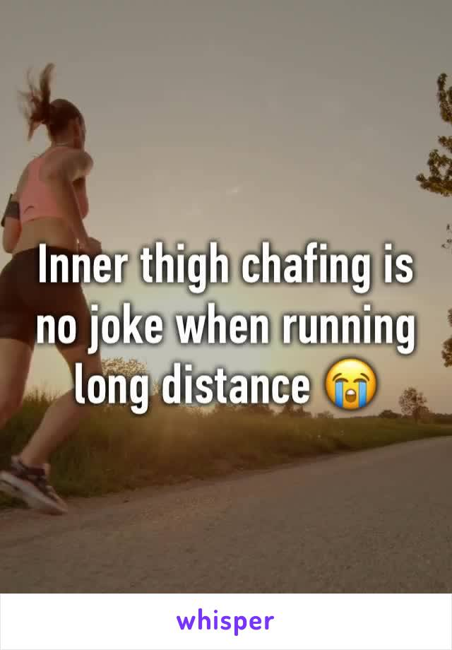 Inner thigh chafing is no joke when running long distance 😭