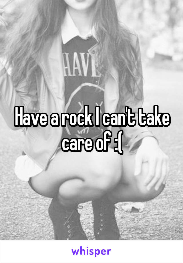 Have a rock I can't take care of :(