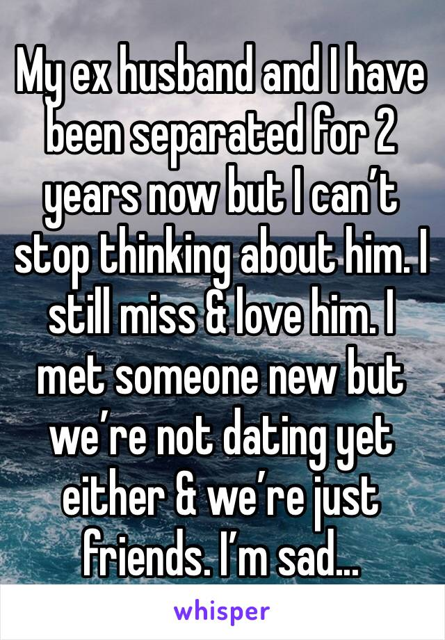 my ex is with someone new