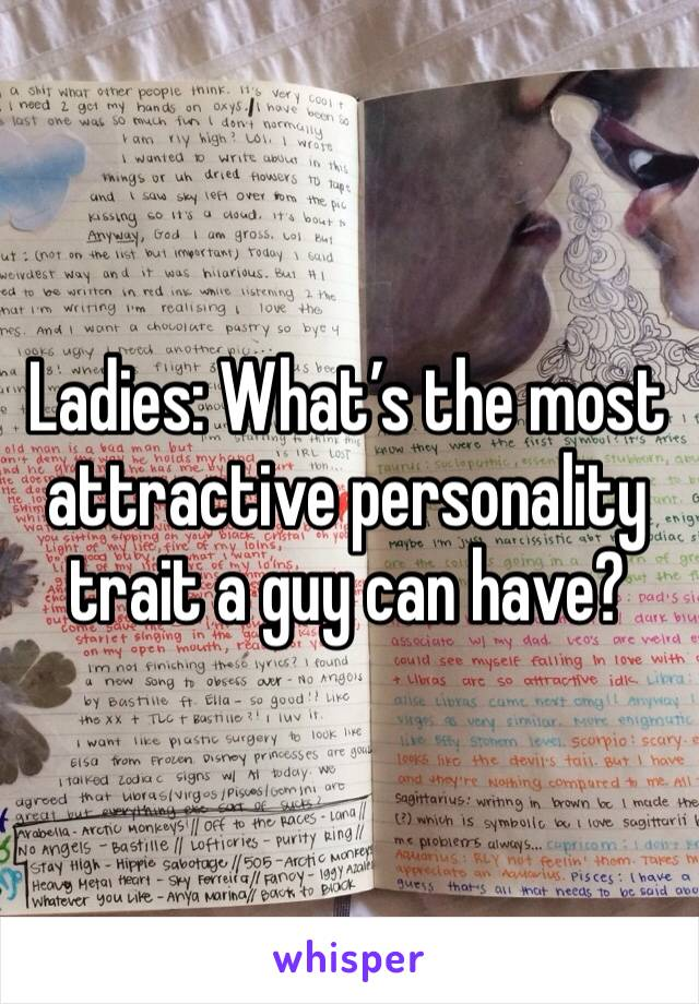 Ladies: What's the most attractive personality trait a guy can have?