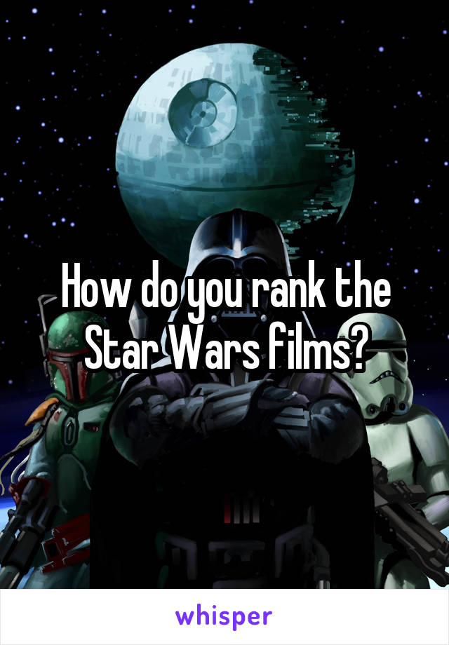 How do you rank the Star Wars films?