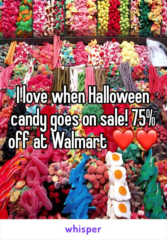I love when Halloween candy goes on sale! 75% off at Walmart ❤️❤️