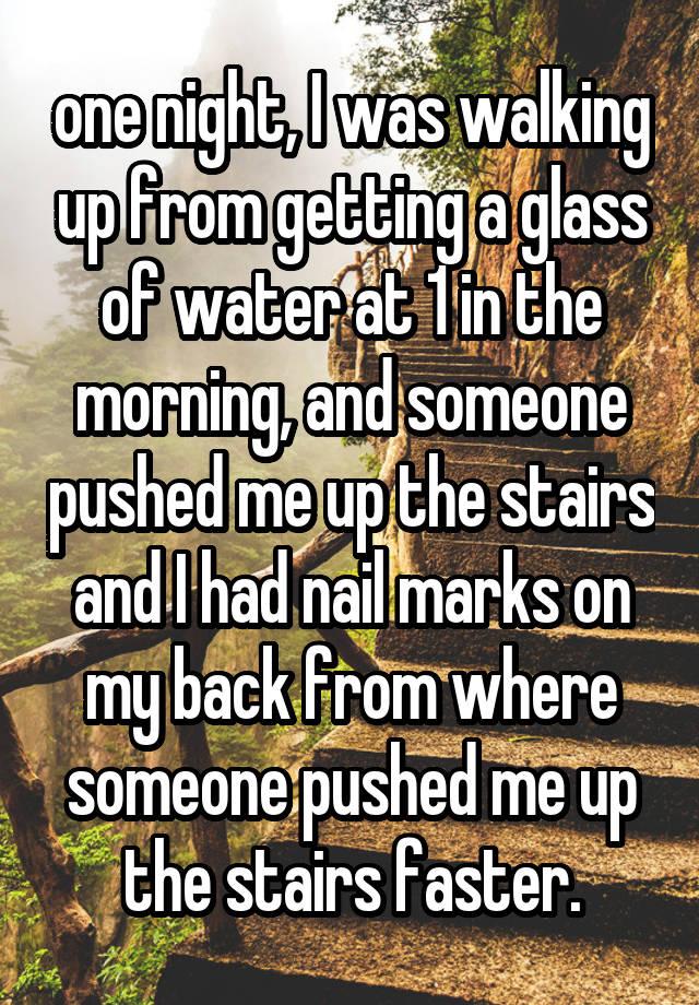 one night i was walking