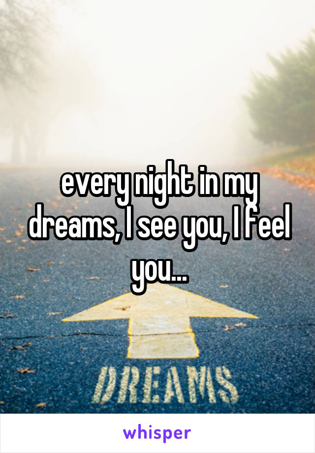 every night in my dreams, I see you, I feel you...