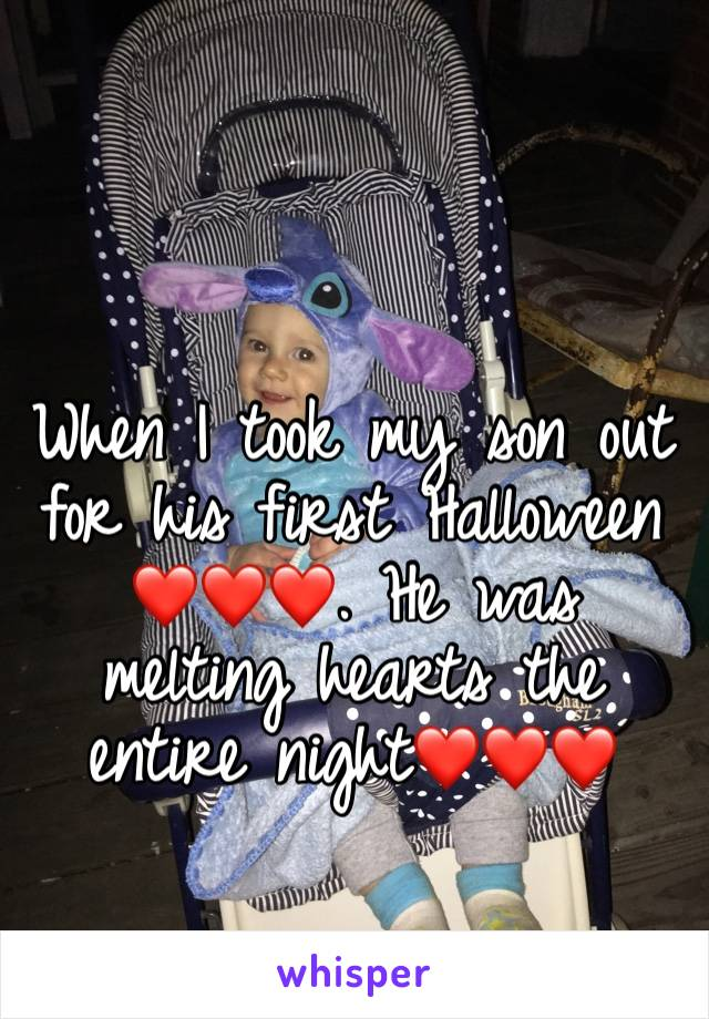 When I took my son out for his first Halloween❤️❤️❤️. He was melting hearts the entire night❤️❤️❤️