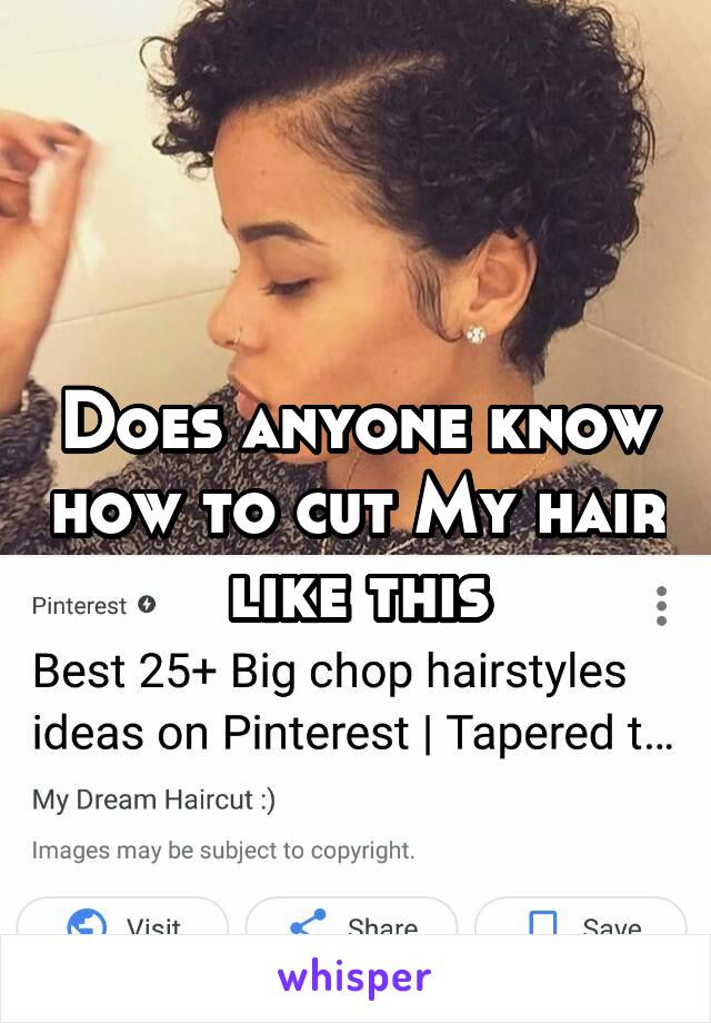 Does anyone know how to cut My hair like this