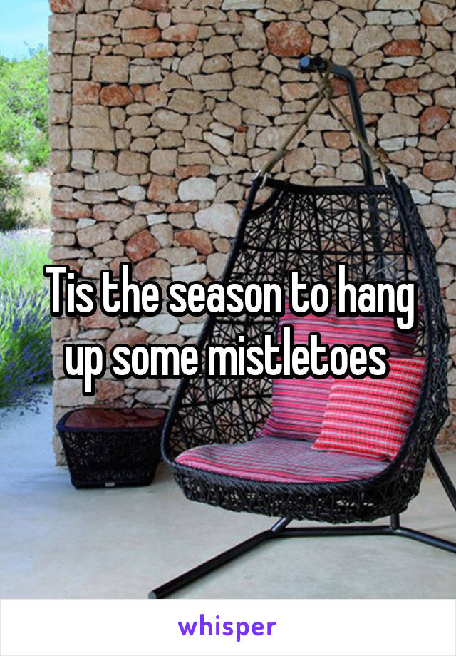 Tis the season to hang up some mistletoes