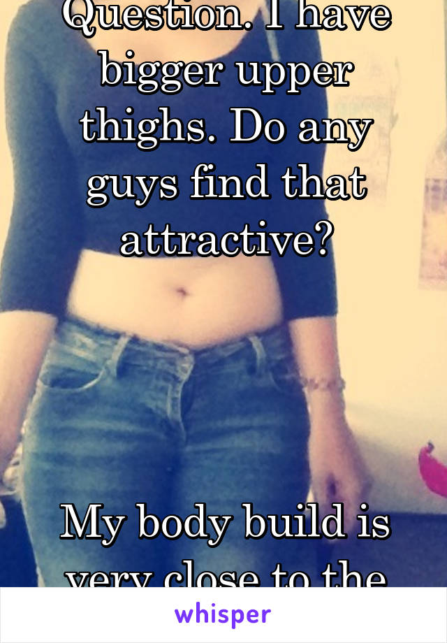 Question. I have bigger upper thighs. Do any guys find that attractive?     My body build is very close to the one pictured.